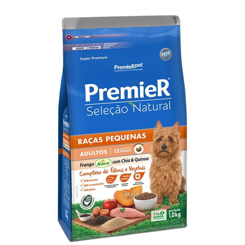 Ração Premier Seleção Natural Frango com Chia e Quinoa para Cães Adultos Raças Pequenas