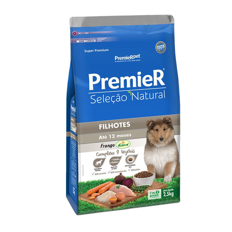 Ração Premier Seleção Natural Frango para Cães Filhotes