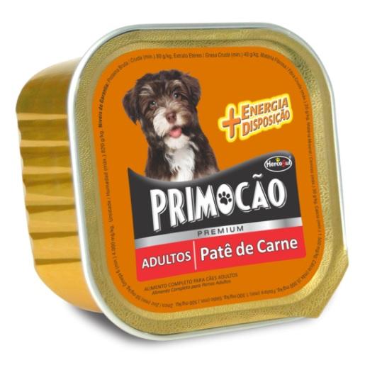 Ração Primocao Patê Premium Adultos Sabor Carne 300g