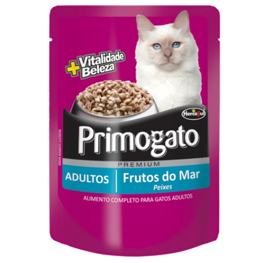 Ração Primogato Sachê Premium Adultos Sabor Peixes 85g