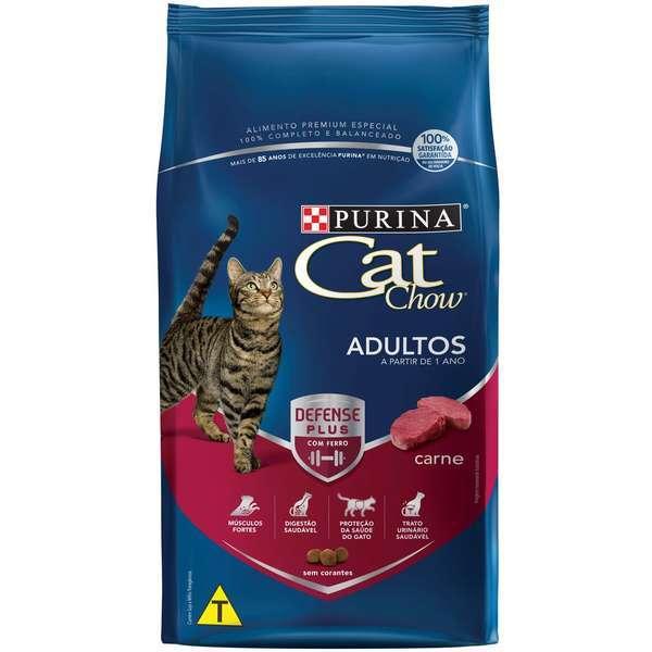 Ração purina cat chow adulto carne 10kg