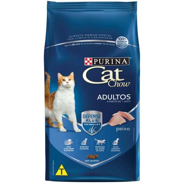 Ração purina cat chow adulto peixe 10kg