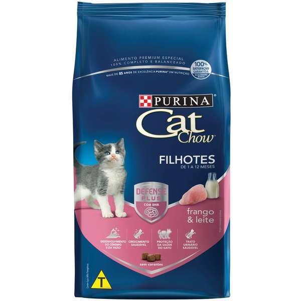 Ração purina cat chow gatinho frango e leite 10kg
