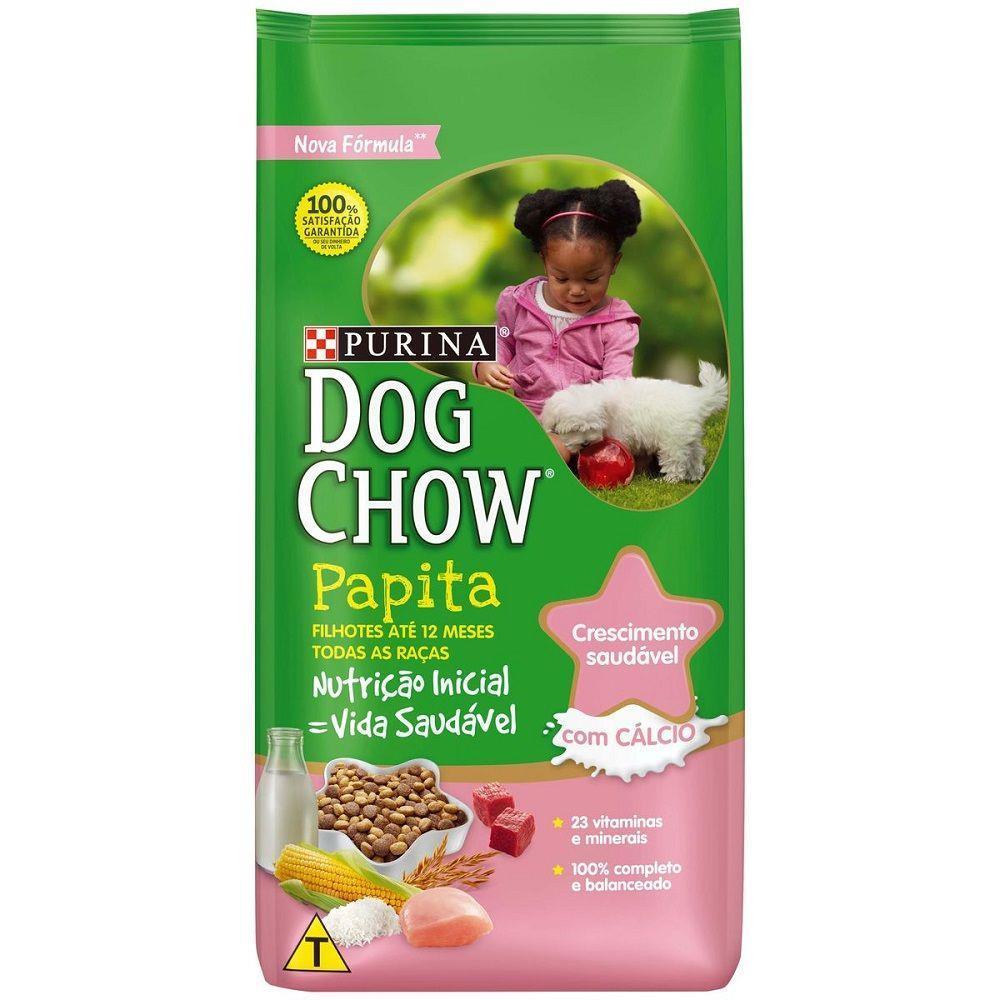 Ração purina dog chow cães filhote papita 15kg