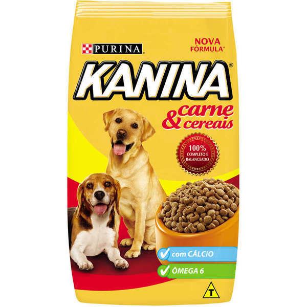 Ração purina kanina carne e cereais para cães adultos 15kg