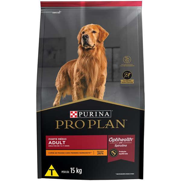 Ração purina pro plan para cães adultos raças médias 15kg
