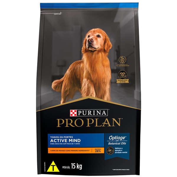 Ração purina pro plan para cães adultos senior 7+ raças médias e grandes 15kg