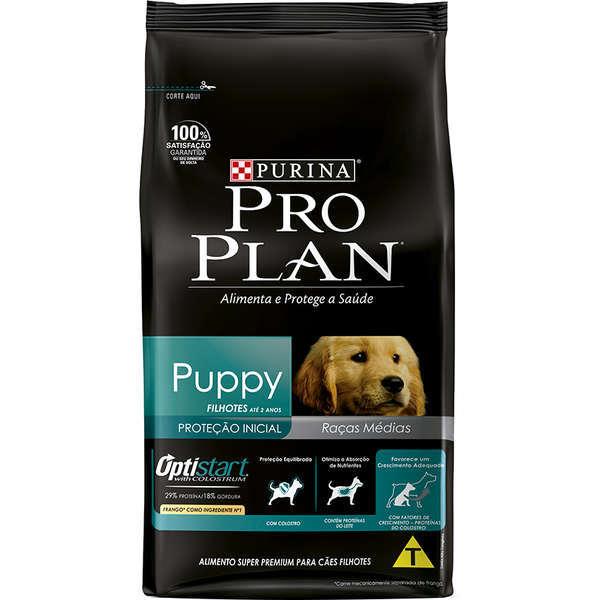 Ração purina pro plan para cães filhotes raças médias 15kg