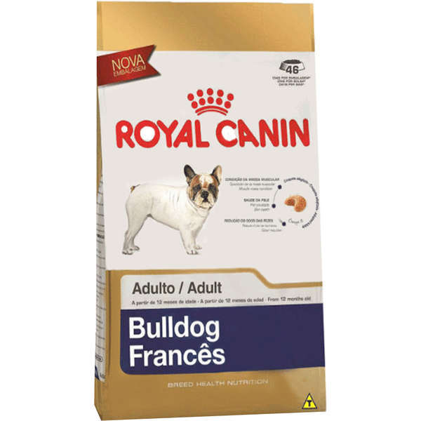 Ração royal canin cães adulto bulldog francês