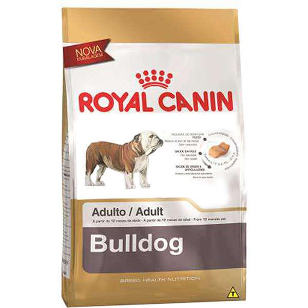 Ração royal canin cães adulto bulldog ingles 12kg