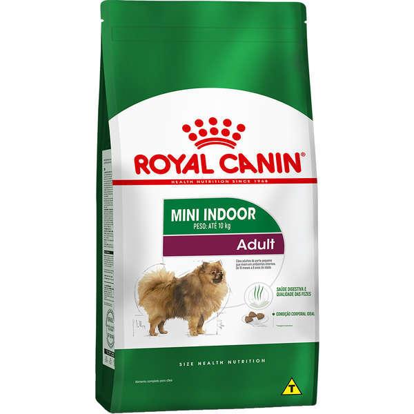 Ração royal canin cães mini adulto indoor para raças pequenas