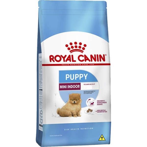 Ração royal canin cães mini junior indoor para filhotes raças pequenas