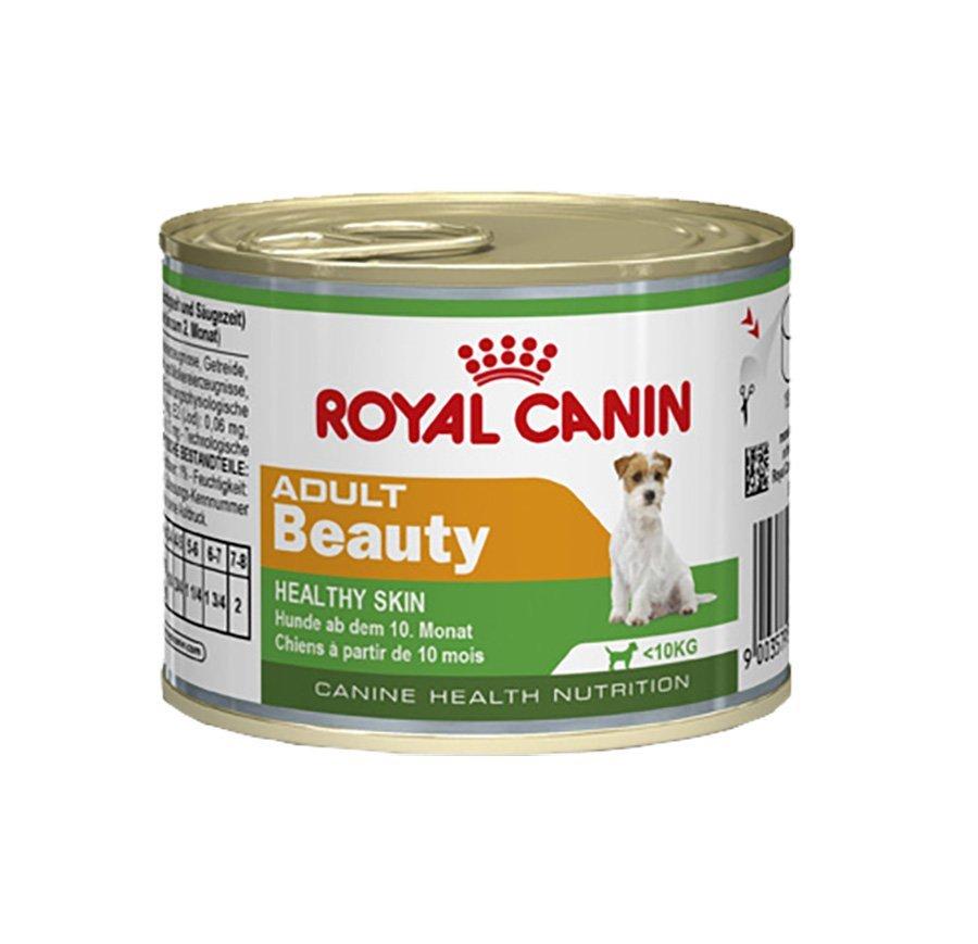 Ração royal canin lata cães adulto beauty 195g