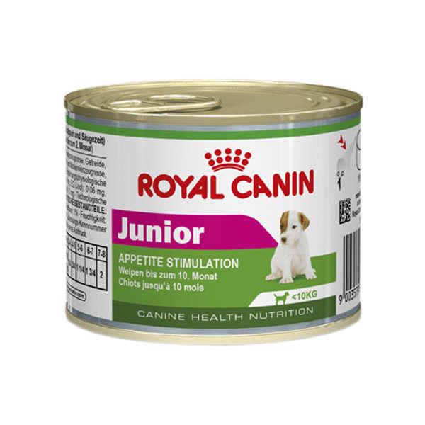 Ração royal canin lata cães filhote mini 195g