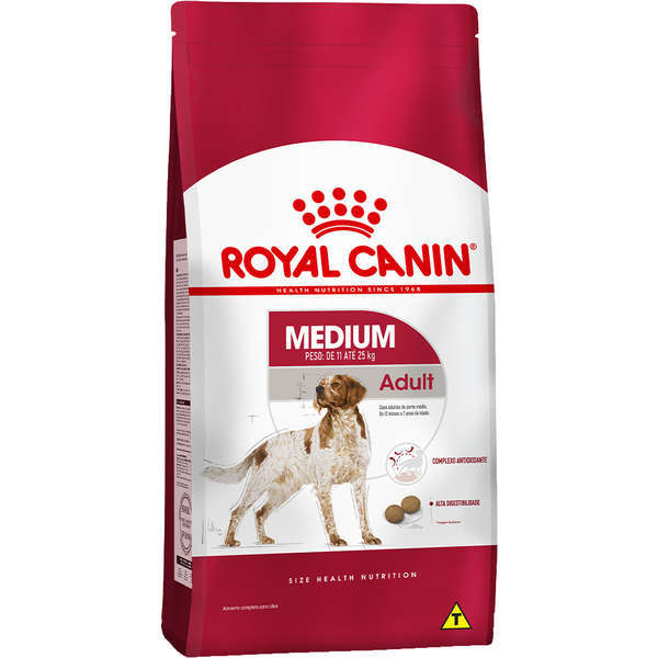 Ração royal canin medium cães adulto para raças médias 15kg