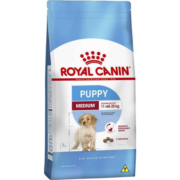 Ração royal canin medium cães filhote para raças médias 15kg