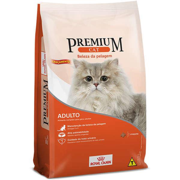 Ração royal canin premium cat adulto beleza da pelagem 10kg