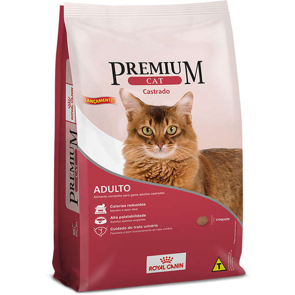 Ração royal canin premium cat adulto castrado 10kg