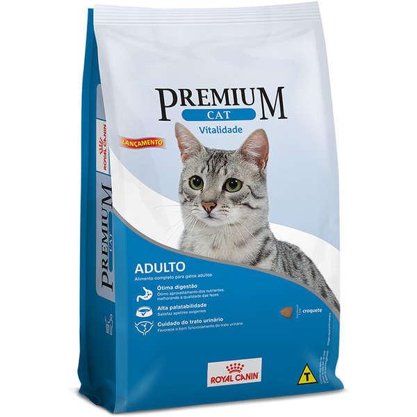 Ração royal canin premium cat adulto vitalidade 10kg