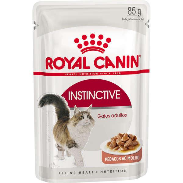 Ração royal canin sache gatos adultos instinctive 85g