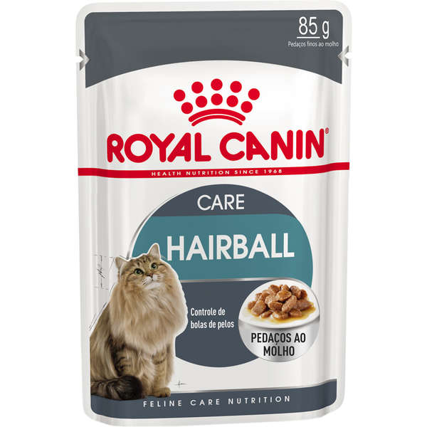 Ração royal canin sache gatos hairball care 85g