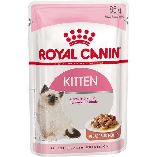 Ração royal canin sache gatos kitten 85g