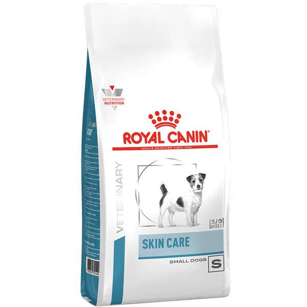 Ração royal canin veterinary cães skin care small dog 2kg