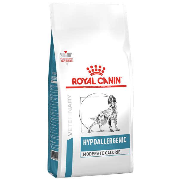 Ração Royal Canin Veterinary Hypoallergenic Moderate Calorie para Cães Adultos