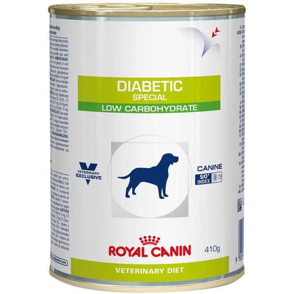 Ração royal canin veterinary lata cães diabetic 410g