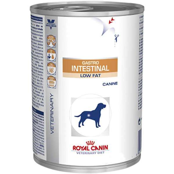 Ração royal canin veterinary lata cães gastro intestinal low fat 410g