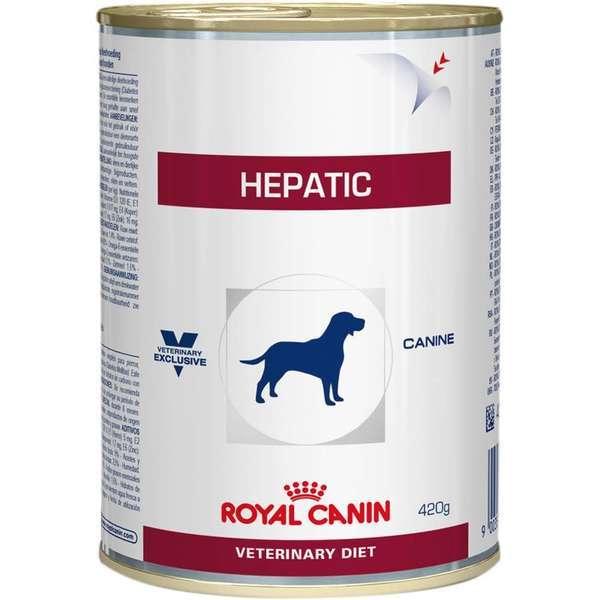 Ração royal canin veterinary lata cães hepatic 420g
