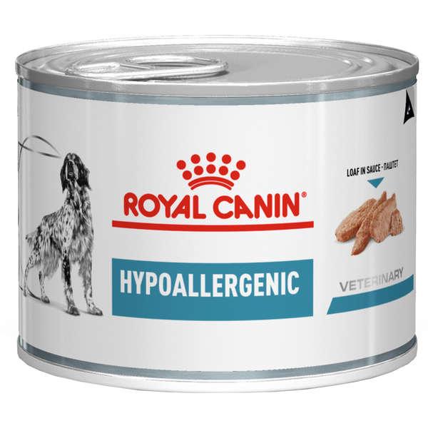 Ração royal canin veterinary lata cães hypoallergenic