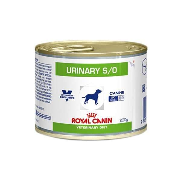 Ração royal canin veterinary lata cães urinary 200g