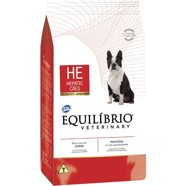 Ração total equilibrio veterinary hepatic para cães