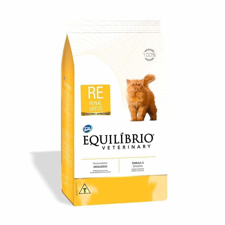 Ração total equilibrio veterinary renal para gatos