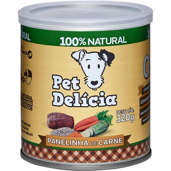 Ração Úmida Pet Delícia Panelinha de Carne para Cães 320g