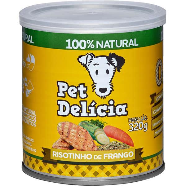Ração Úmida Pet Delícia Risotinho de Frango para Cães 320g