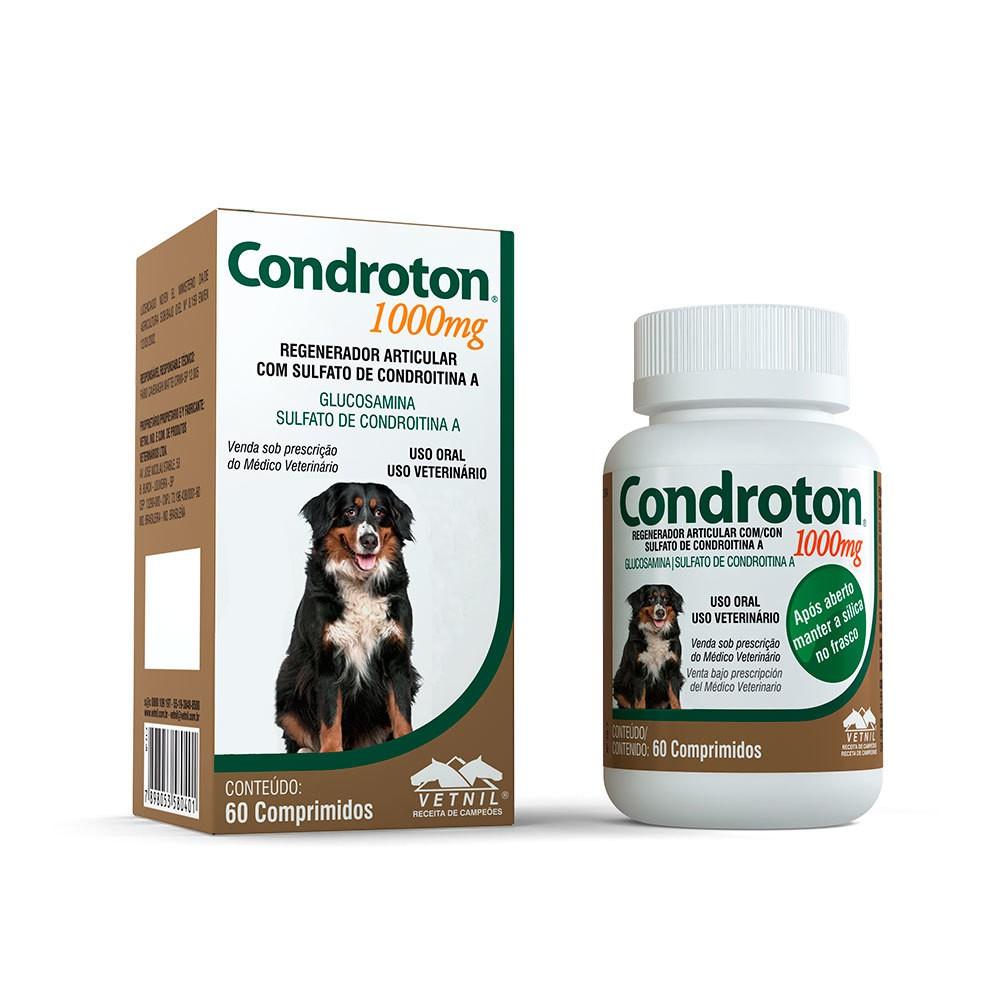 Regenerador articular vetnil condroton 1000mg para cães 60 comprimidos