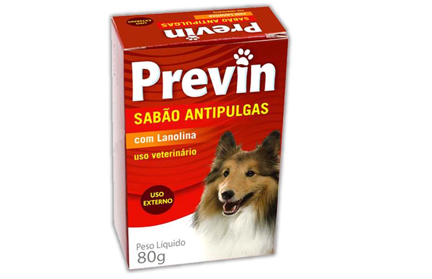 Sabão antipulgas previn para cães - 80 g
