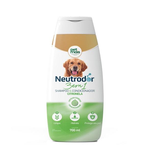 Shampoo 3 em 1 Citronela Neutrodor PetMais