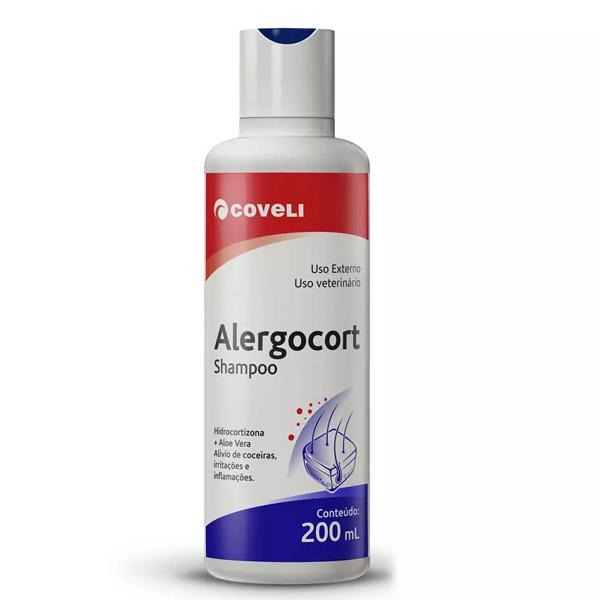 Shampoo antialérgico coveli alergocort para cães e gatos 200ml