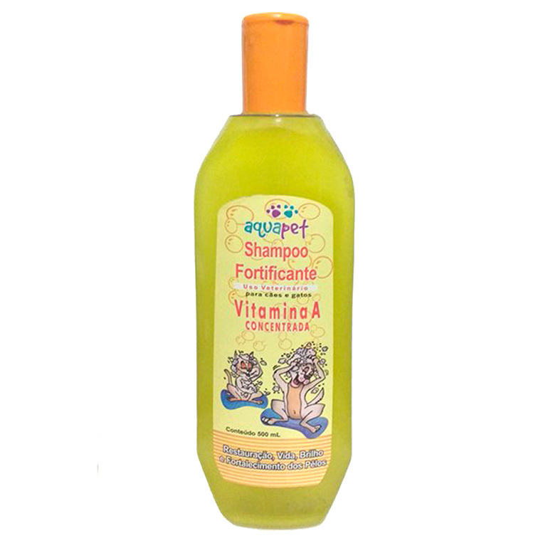 Shampoo aquapet fortificante com vitamina a 500ml