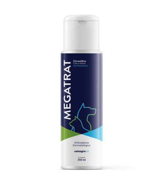 Shampoo centagro megatrat clorexidina para cães e gatos 250ml
