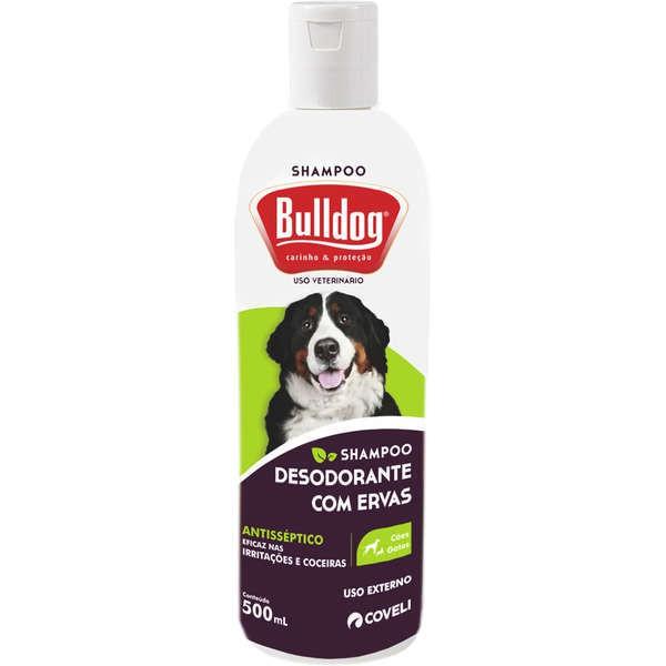 Shampoo coveli bulldog desodorante com ervas 500ml