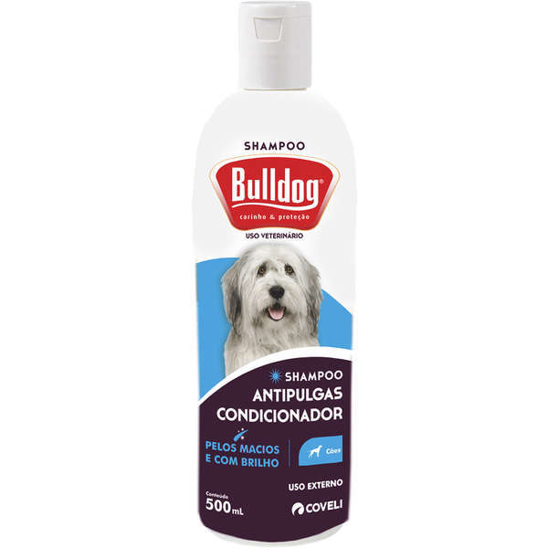 Shampoo e condicionador coveli bulldog antipulgas 500ml