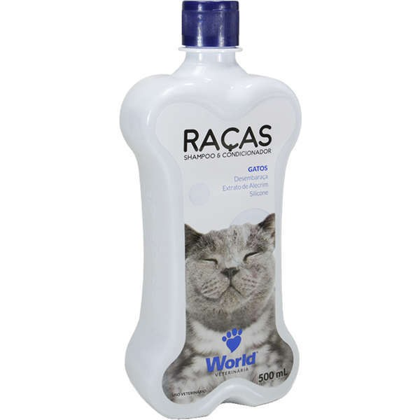Shampoo e condicionador world gatos 500ml