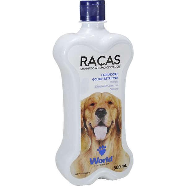 Shampoo e condicionador world labrador e golden retriever 500ml