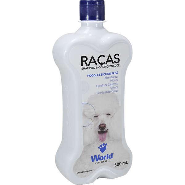 Shampoo e condicionador world poodle e bichon frisé 500ml