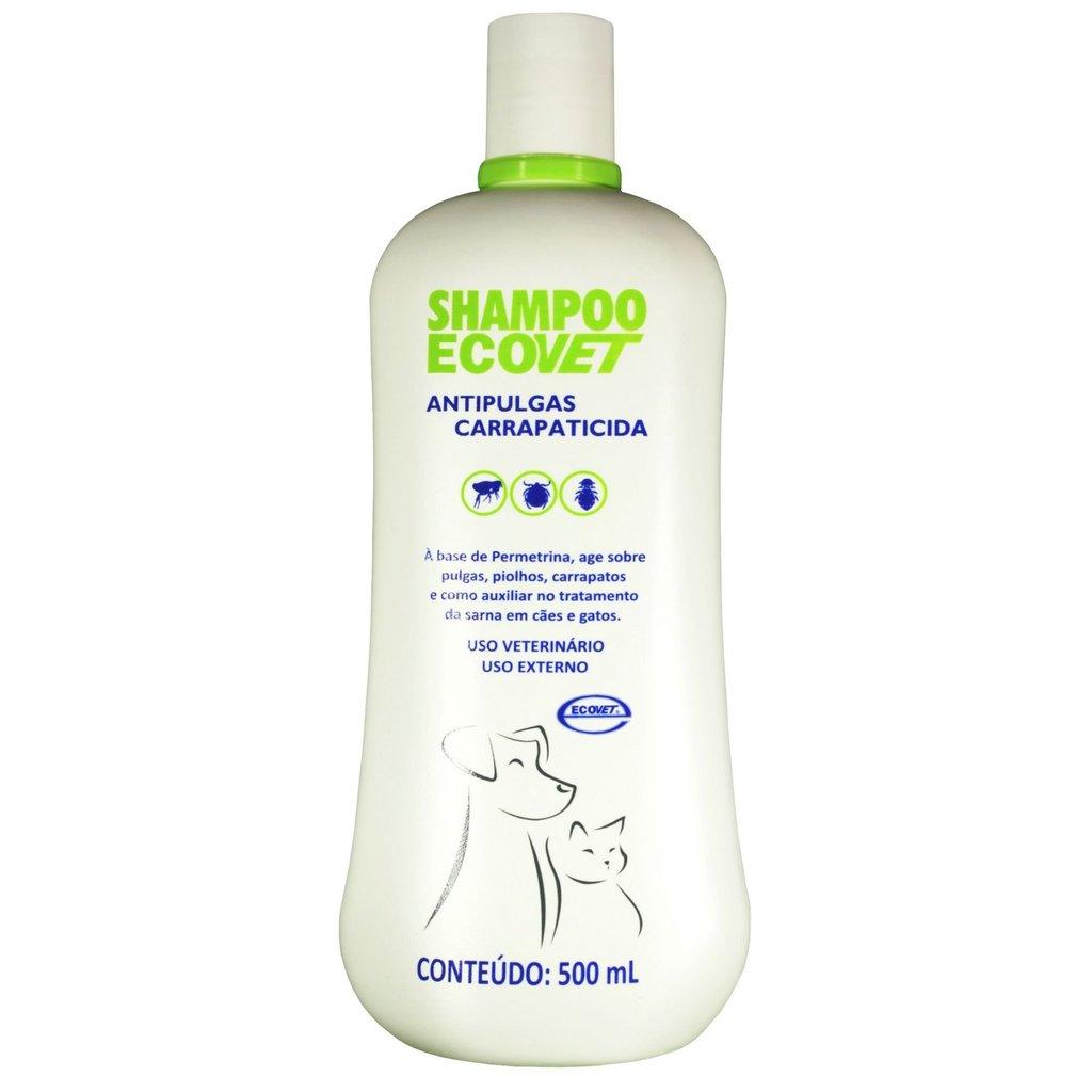 Shampoo ecovet antipulgas para caes e gatos 500ml
