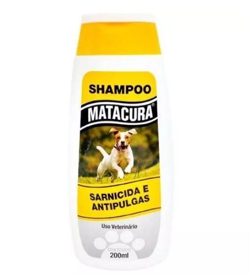 Shampoo matacura sarnicida e antipulgas 200ml